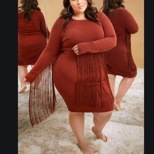 Fashion To Figure Rust Bodycon Dress